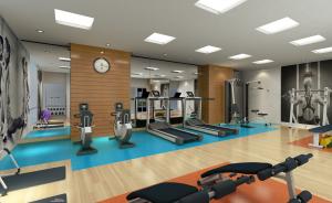 área fitness em condomínio de santos